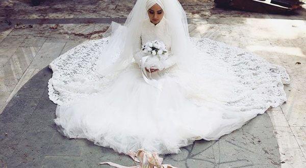 2019 Tesettür Düğün Elbise Modelleri 2