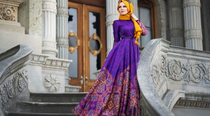 2019 Tesettür Düğün Elbise Modelleri 3