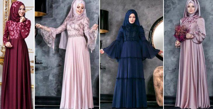 2019 Tesettür Düğün Elbise Modelleri 1
