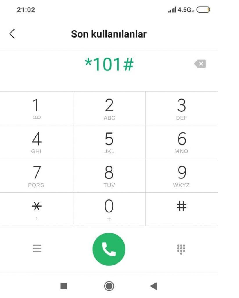 kendi telefon numaramı nasıl öğrenirim