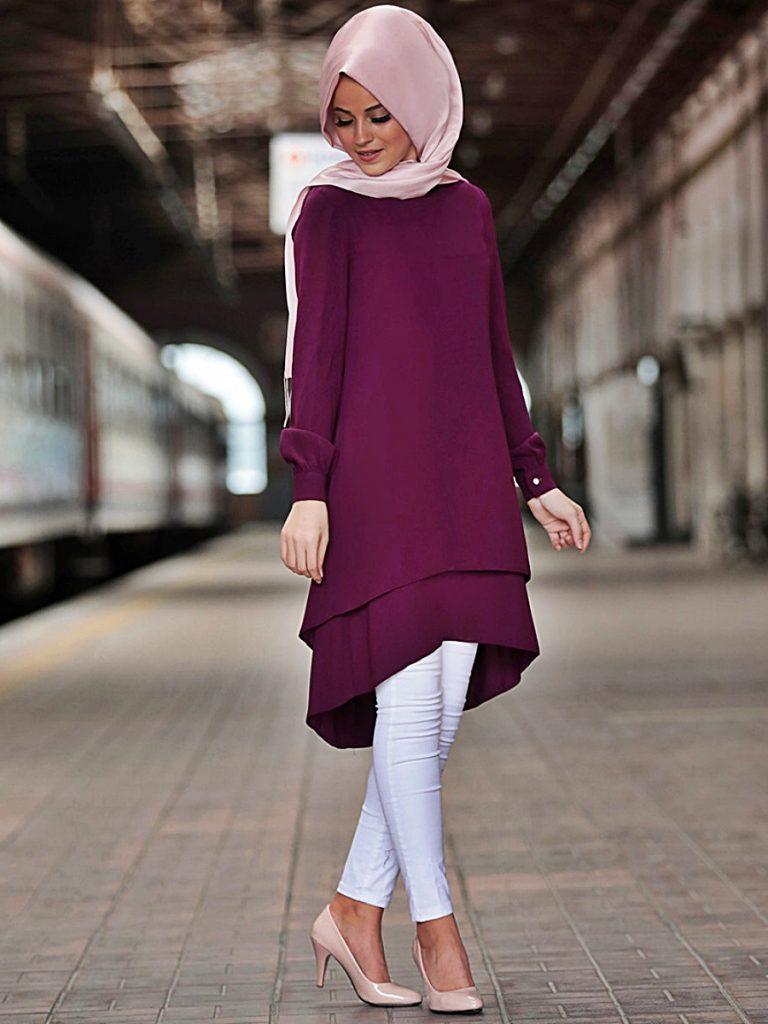 2019 – 2020 Tesettür Giyim Tunik Modelleri 1