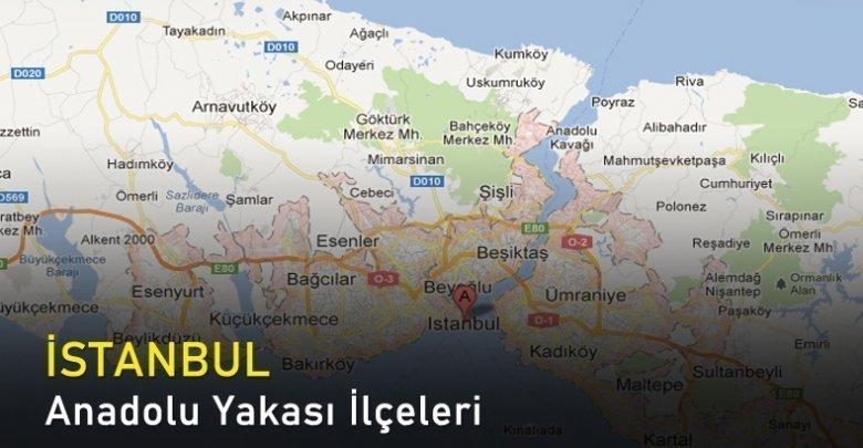 İstanbul Anadolu Yakası İlçeleri