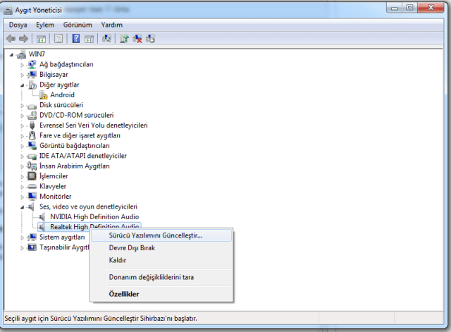 Windows 10 Ses Sorunu Çözümü 1