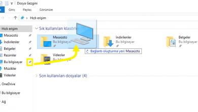 Photo of Windows 10'da Bilgisayarım Simgesini Masaüstüne Getirme