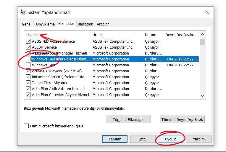 Windows 10 Ses Sorunu Çözümü 4