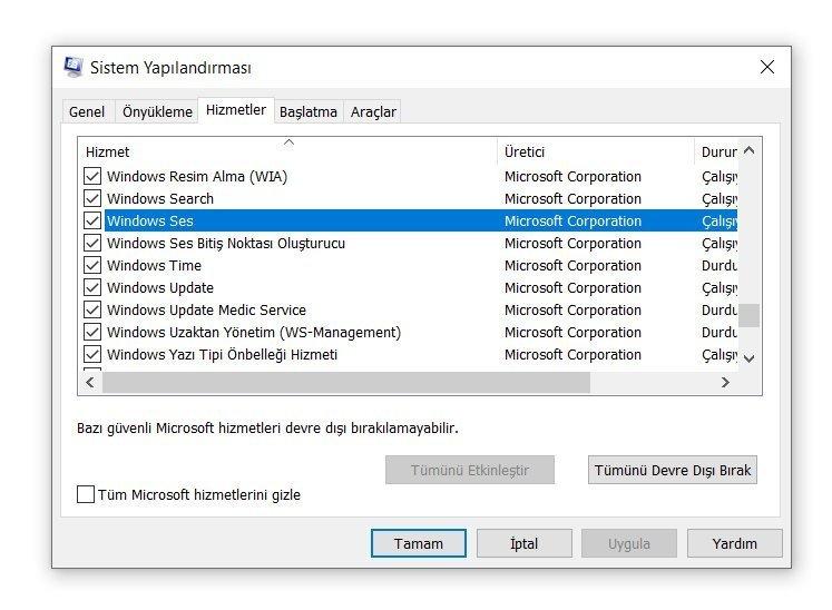 Windows 10 Ses Sorunu Çözümü 3